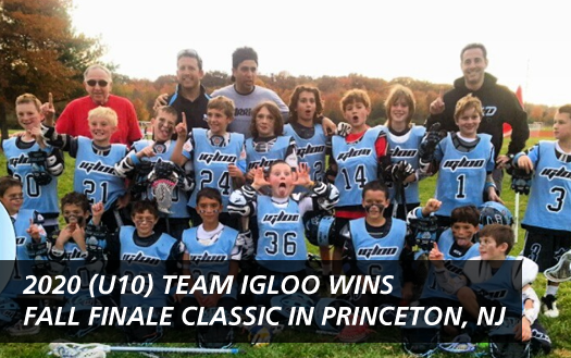 Team Igloo 2021(u11) and 2021 (u10) Grade Boys Teams each won their divisions in the Fall Finale Classic