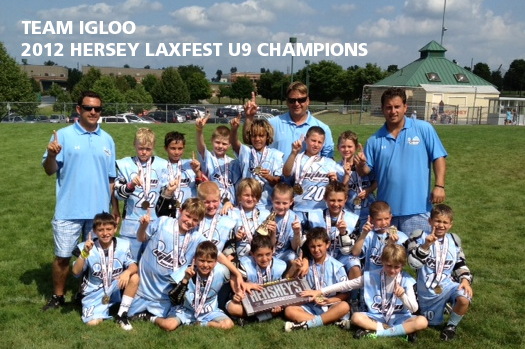 Team Igloo wins Hersey Laxfest for U9 Boys Elite Travel Division